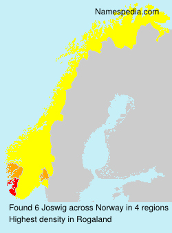 Surname Joswig in Norway
