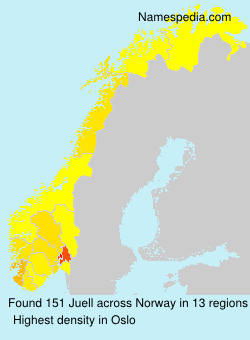 Surname Juell in Norway