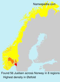 Surname Juelsen in Norway