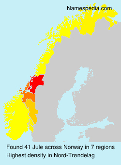 Surname Jule in Norway