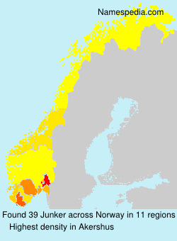 Surname Junker in Norway