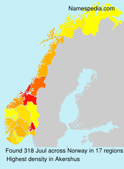 Surname Juul in Norway