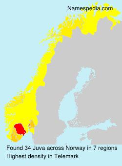Familiennamen Juva - Norway