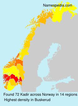 Surname Kadir in Norway