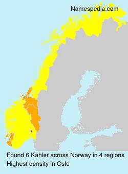 Surname Kahler in Norway