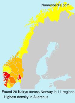 Surname Kairys in Norway