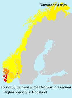 Surname Kalheim in Norway