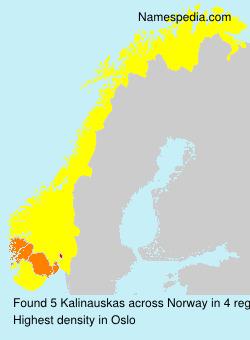 Surname Kalinauskas in Norway