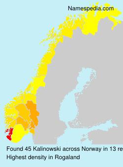 Surname Kalinowski in Norway