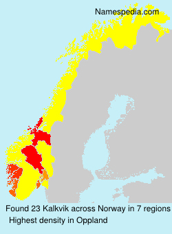 Surname Kalkvik in Norway