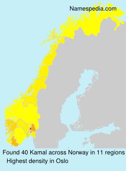 Surname Kamal in Norway