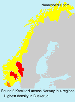 Surname Kamikazi in Norway