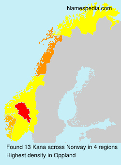 Surname Kana in Norway