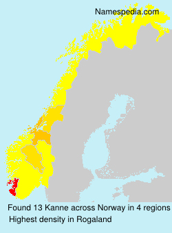 Surname Kanne in Norway