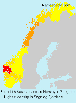 Surname Karadas in Norway