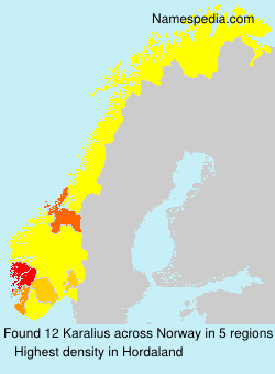 Surname Karalius in Norway