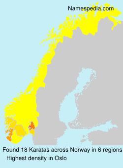 Surname Karatas in Norway