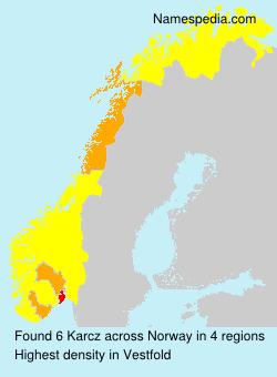 Surname Karcz in Norway