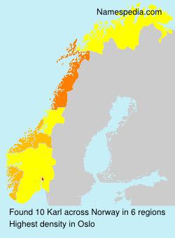 Surname Karl in Norway