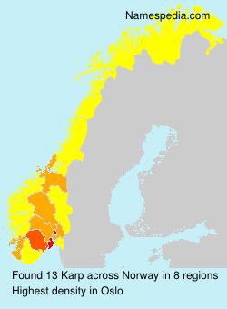 Surname Karp in Norway