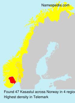 Familiennamen Kasastul - Norway