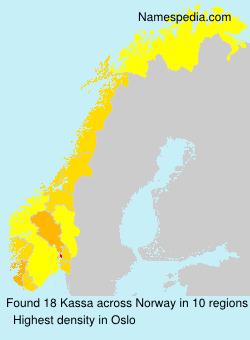 Familiennamen Kassa - Norway