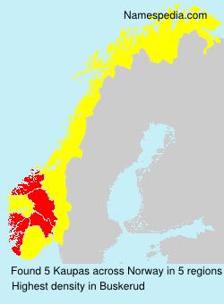 Familiennamen Kaupas - Norway