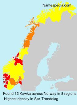 Familiennamen Kawka - Norway