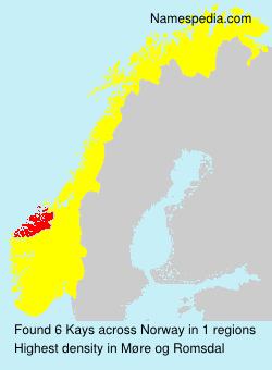 Surname Kays in Norway