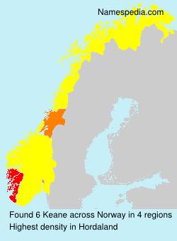 Surname Keane in Norway