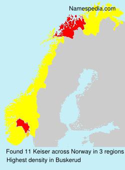 Surname Keiser in Norway