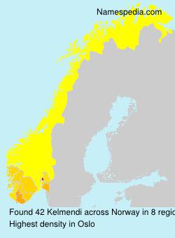Familiennamen Kelmendi - Norway