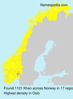 Surname Khan in Norway