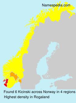 Surname Kicinski in Norway