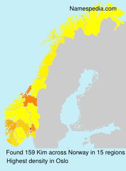 Familiennamen Kim - Norway