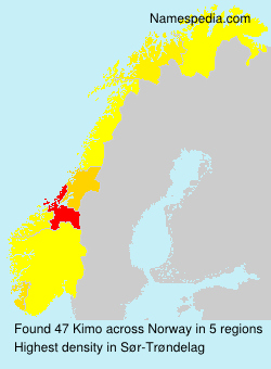 Surname Kimo in Norway