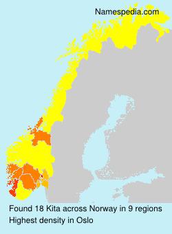Surname Kita in Norway