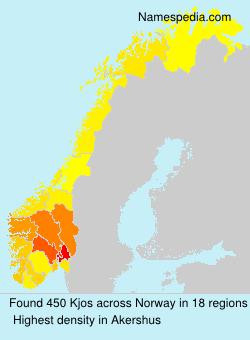 Familiennamen Kjos - Norway