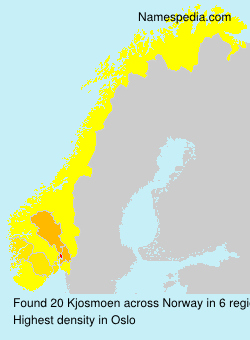 Surname Kjosmoen in Norway