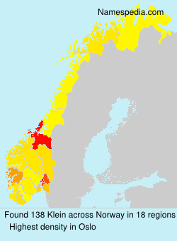 Surname Klein in Norway