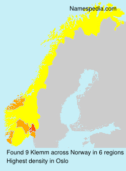 Surname Klemm in Norway