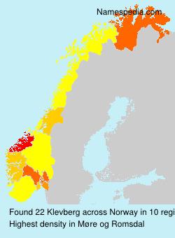 Surname Klevberg in Norway