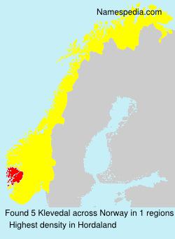 Surname Klevedal in Norway
