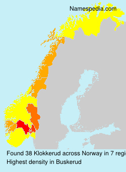 Familiennamen Klokkerud - Norway