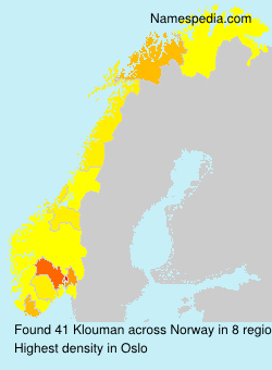 Surname Klouman in Norway