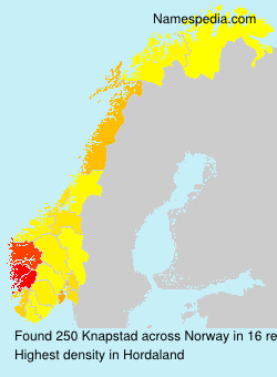 Surname Knapstad in Norway