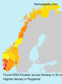 Surname Knutsen in Norway