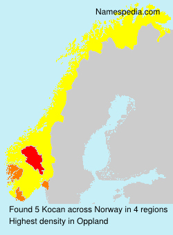Surname Kocan in Norway