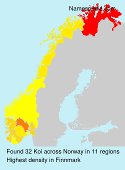 Surname Koi in Norway