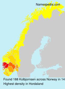 Surname Kolbjornsen in Norway